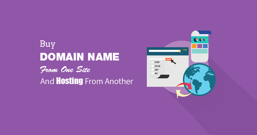 Buy domain name from one site and hosting from another