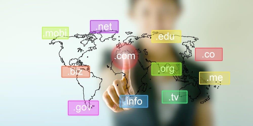 Limitations of less common website suffixes like .biz, .us, or .info